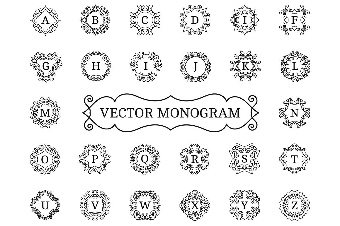 Vector monogram logotypes. Logo set. example image 2
