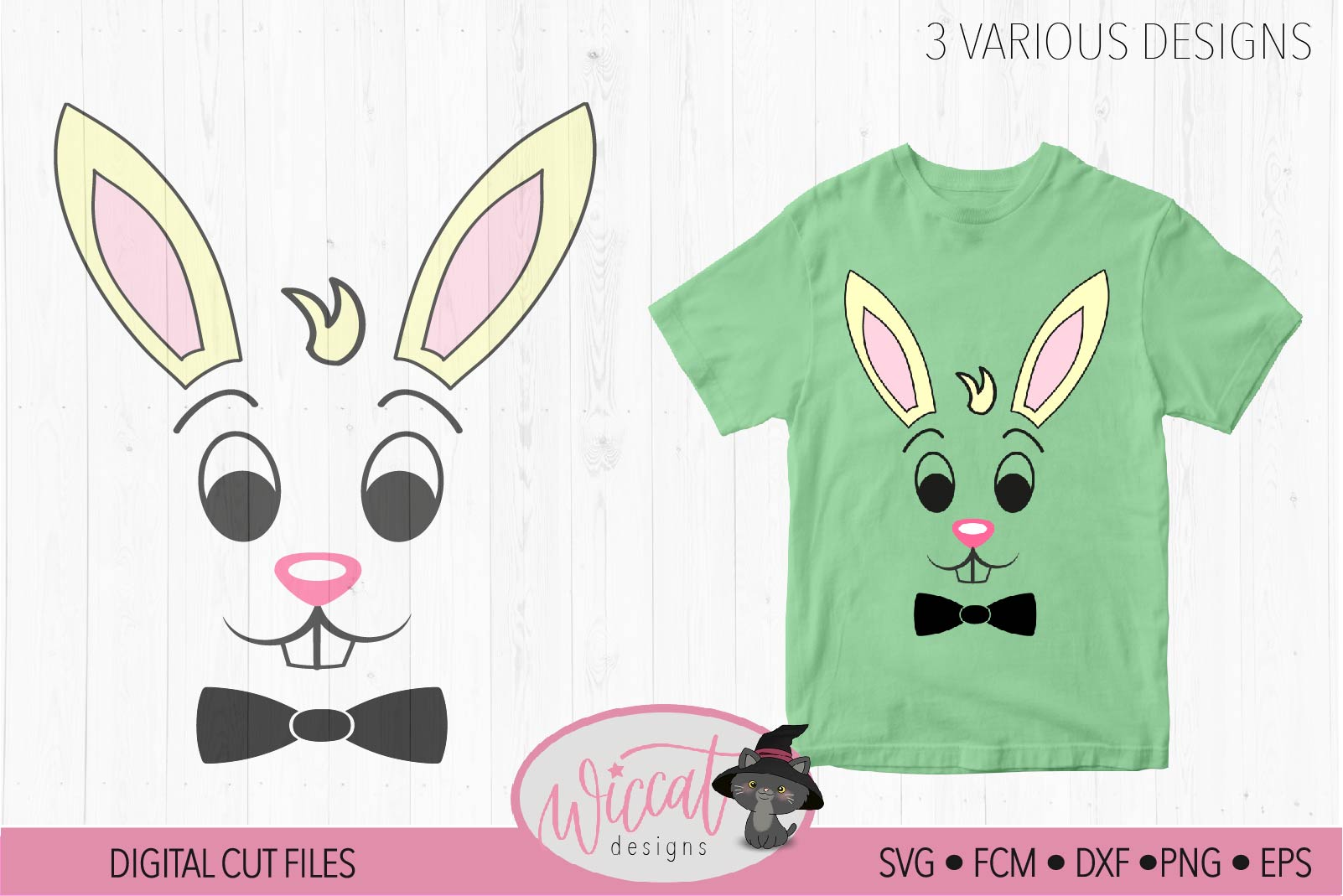 Easter bundle, easter calander, Easter bunny, Bunny face svg example image 3
