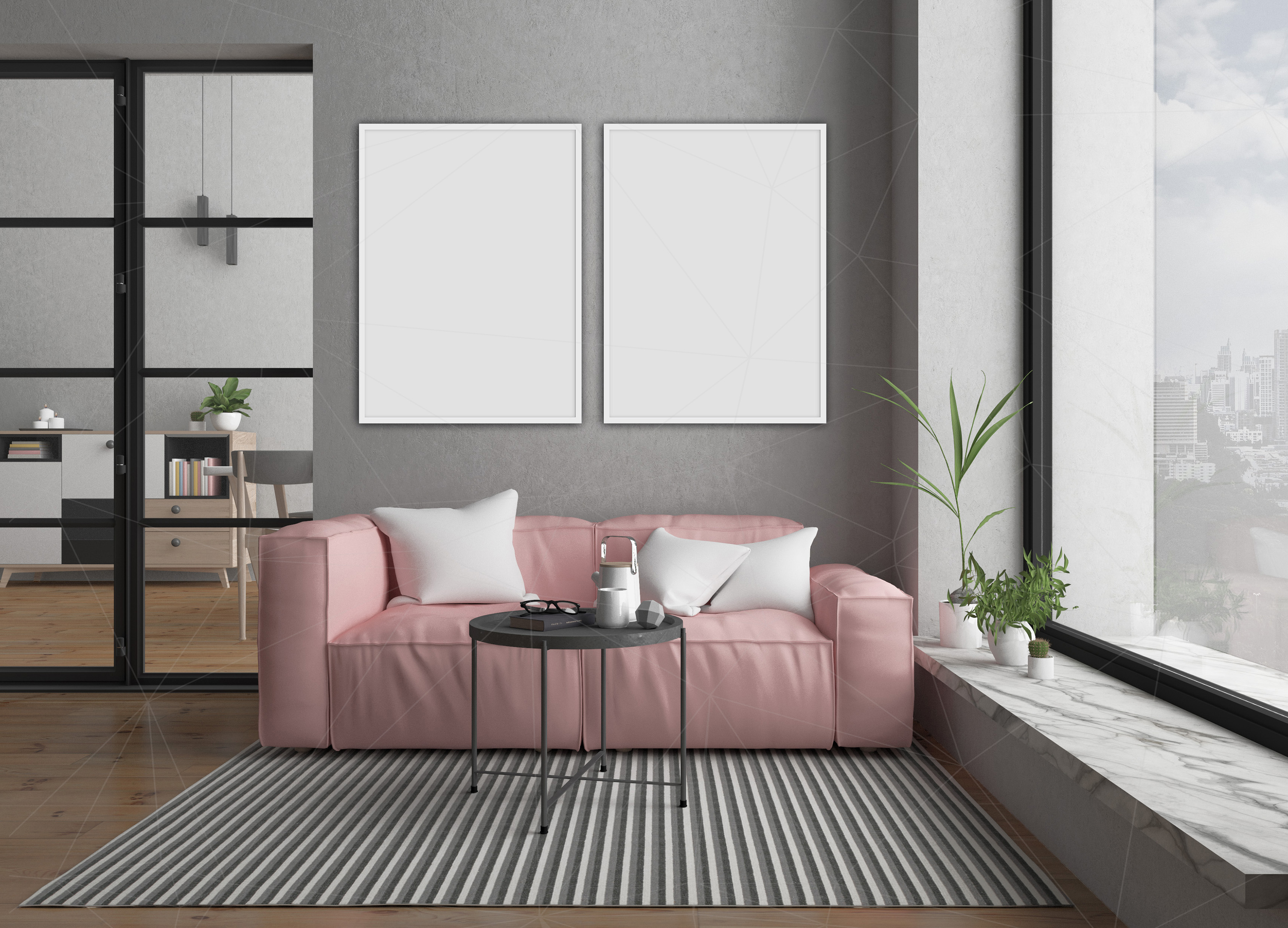 Interior mockup bundle - blank wall mock up example image 7