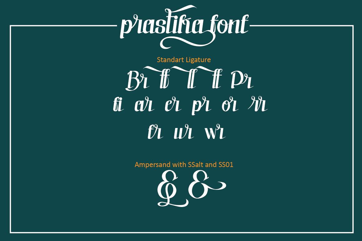 Prastika Script Typeface example image 5