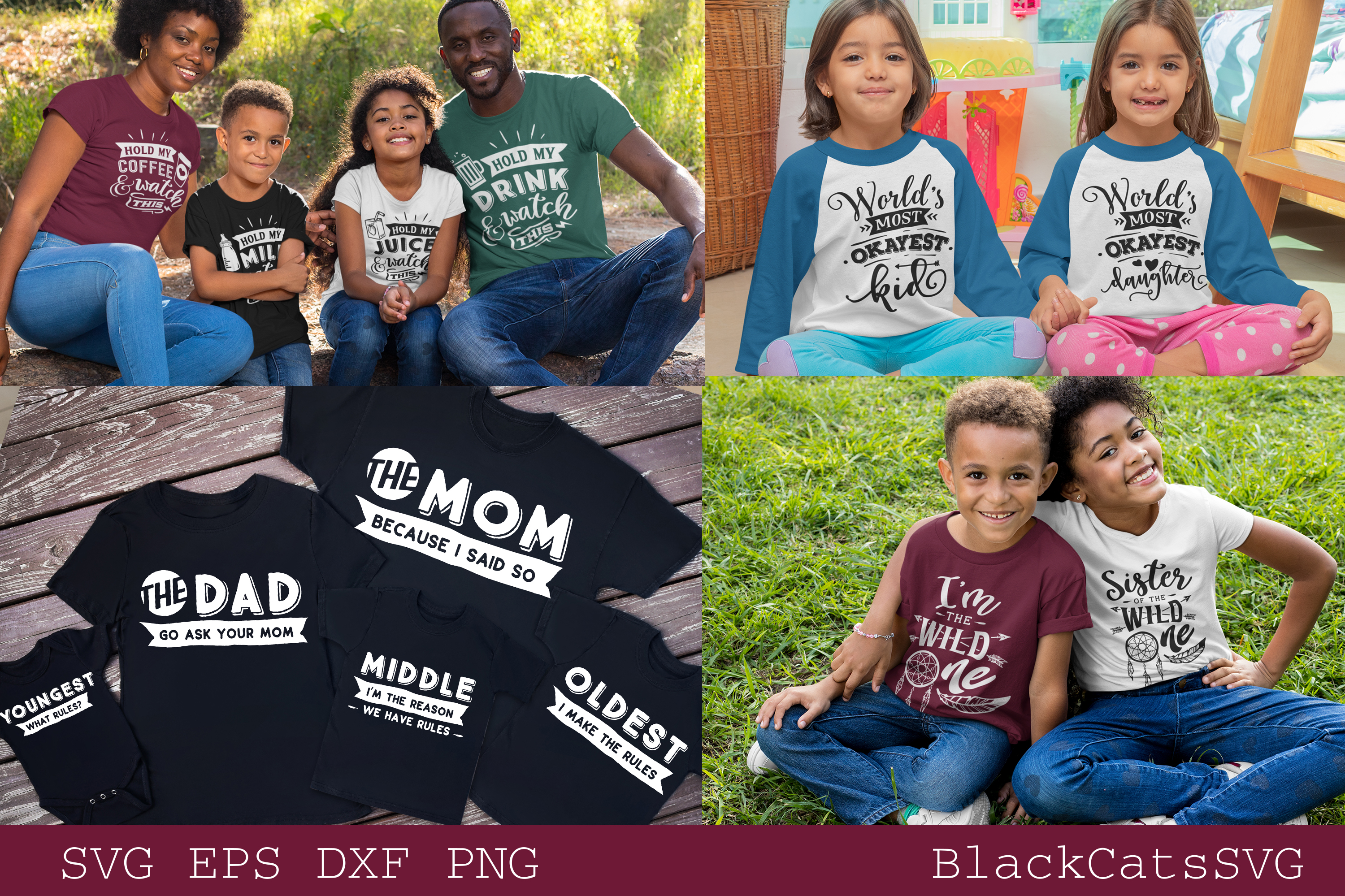 Family matching outfits SVG bundle 50 designs vol 1 example image 3