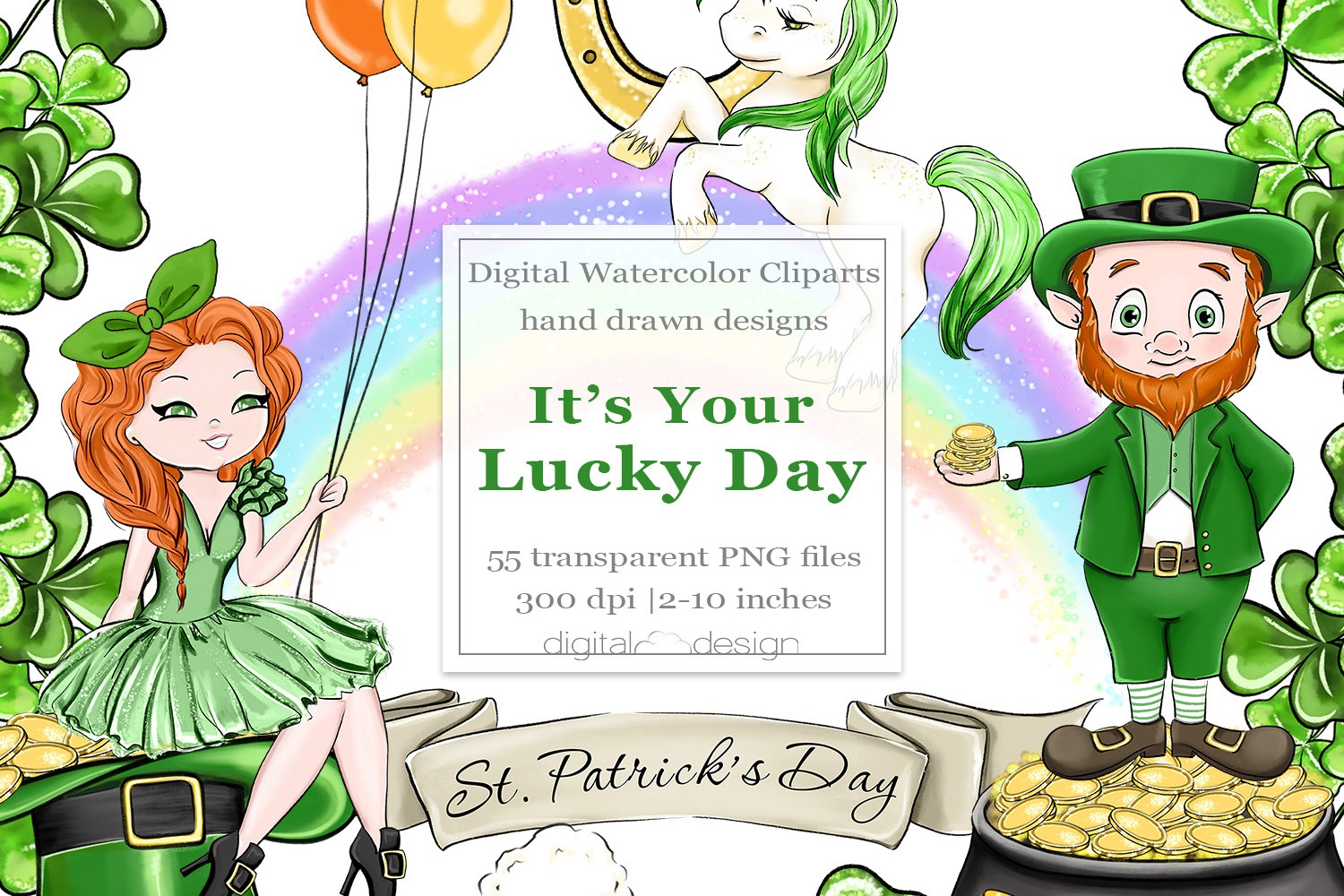 Its Your Lucky Day - Clipart example image 1