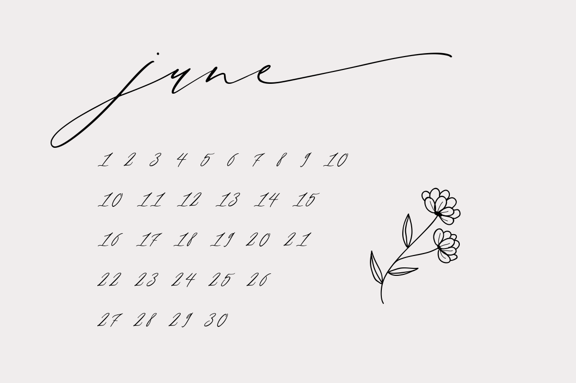 Month Glade - Calligraphy Font example image 8