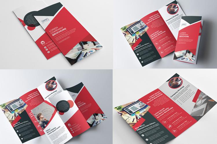 Corporate Tri Fold brochure example image 1