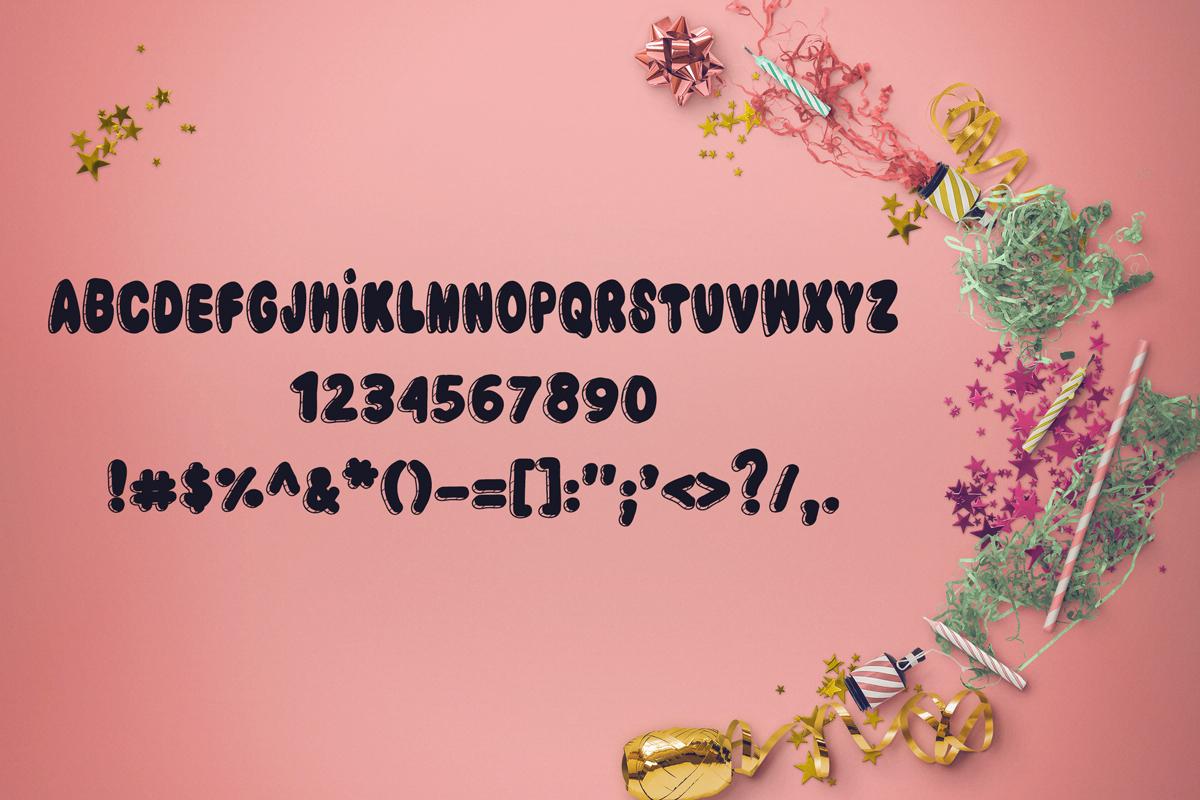 Birthday Cake Font example image 2