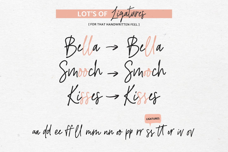 River Jade, signature font script, Logos & bonus clipart example image 4