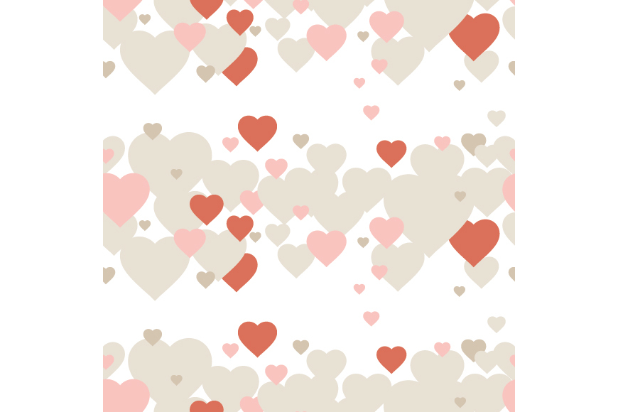 Set of 12 backgrounds with Hearts on Valentine's Day. example image 13