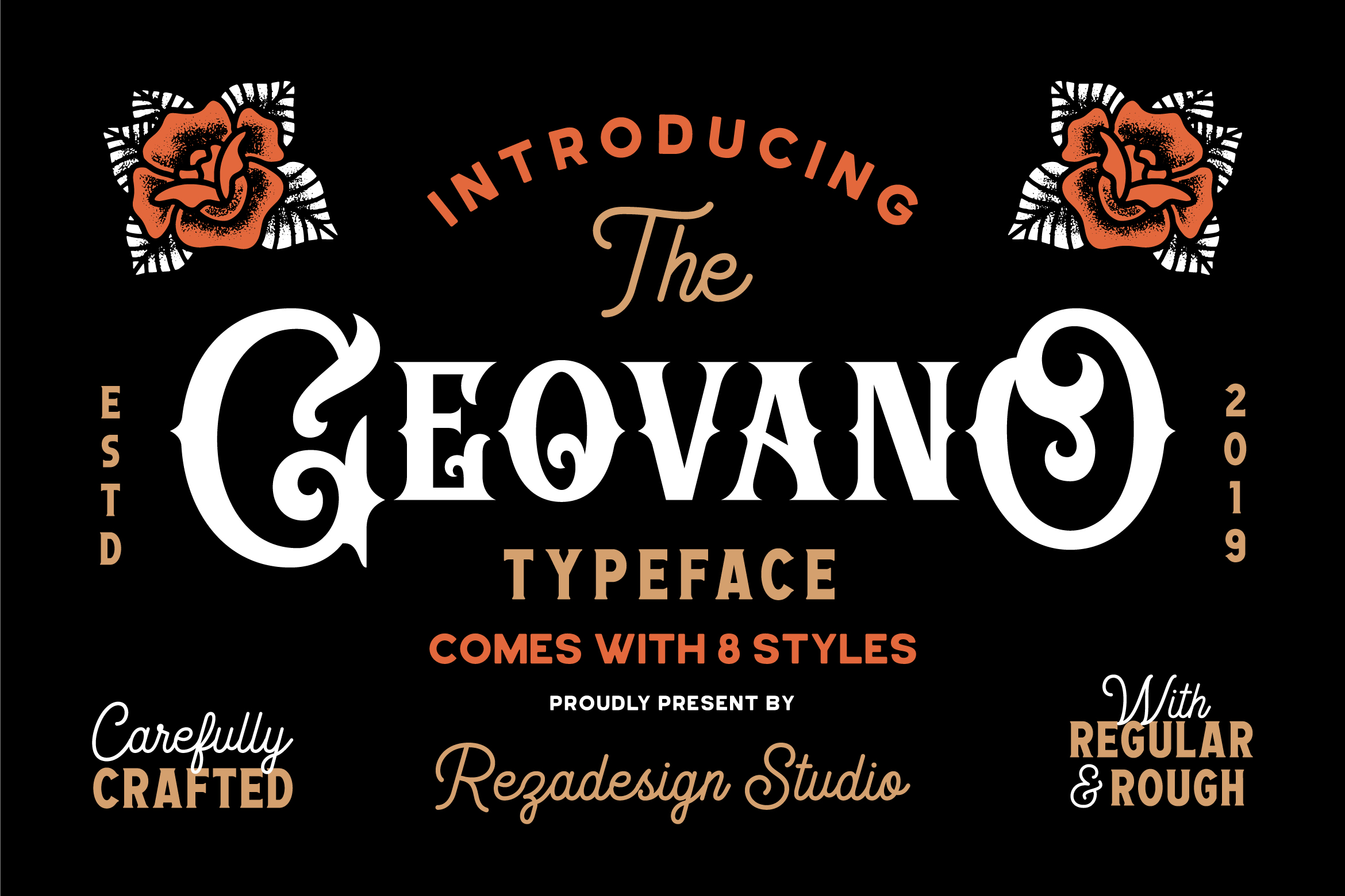 Geovano - Vintage Font Family example image 1