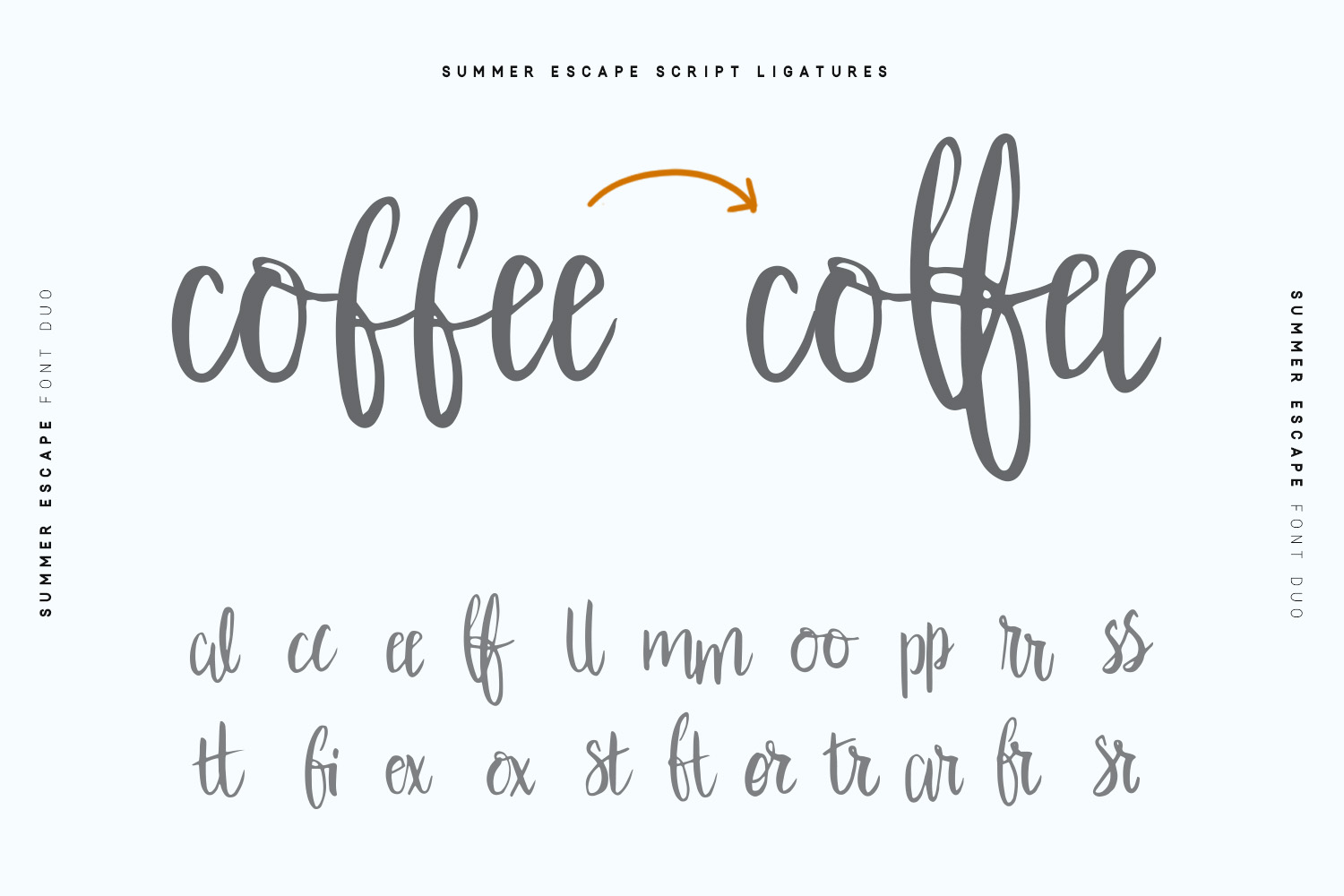 Summer Escape Font Duo example image 11