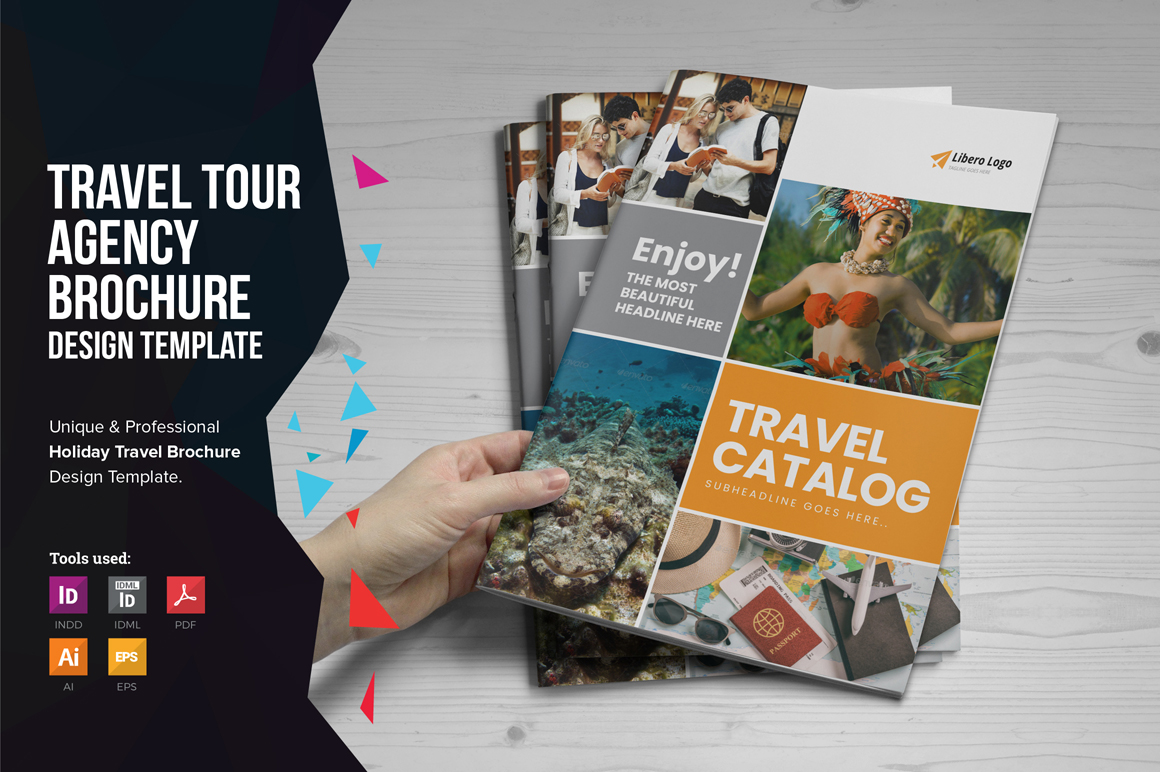 Holiday Travel Brochure Design v5 example image 1