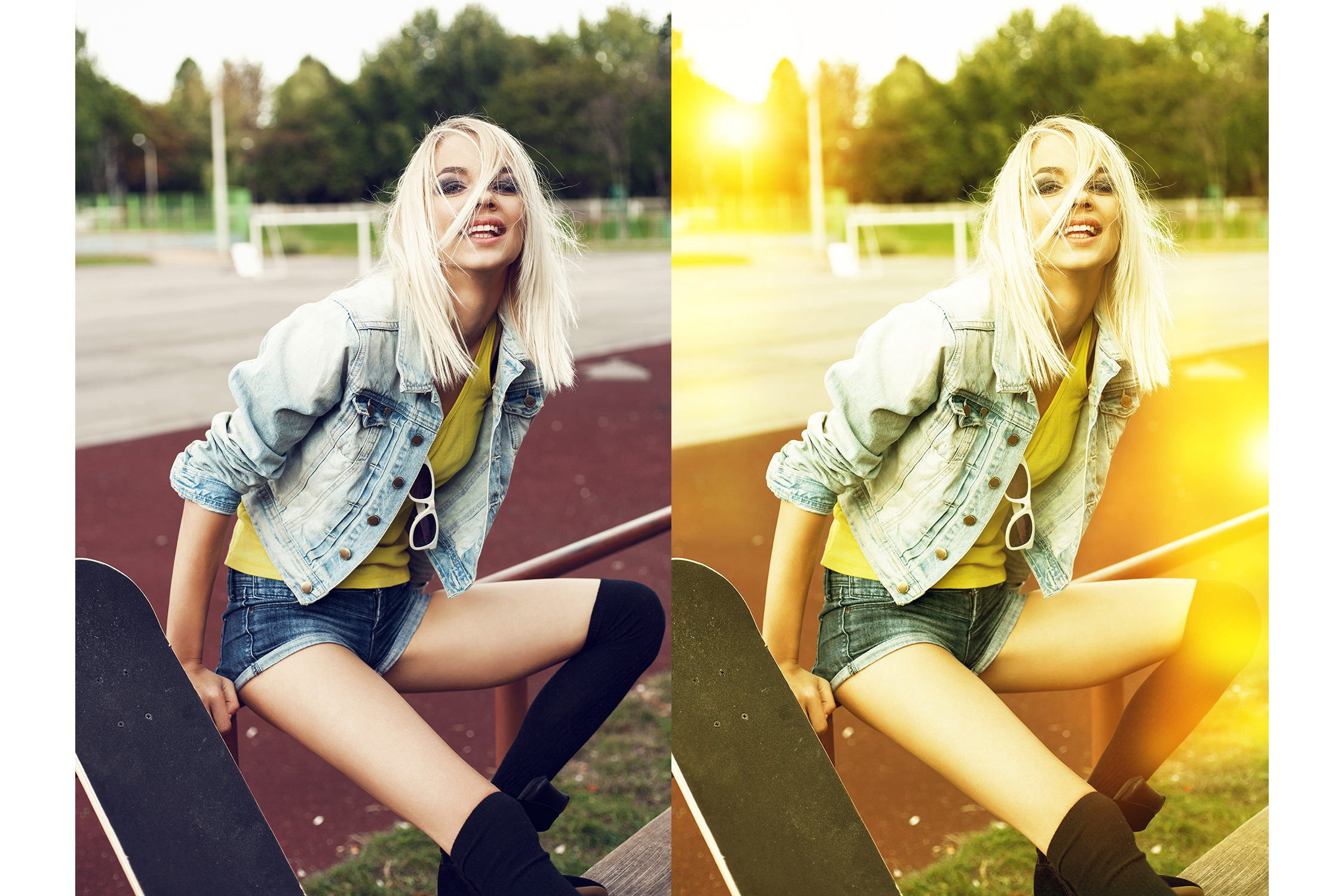 122 Light Leaks Photoshop Actions Collection (Action for photoshop CS5,CS6,CC) example image 3