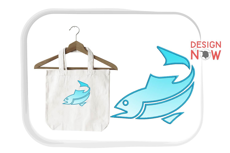 Fish Applique Design, Fish Embroidery Pattern, Sea, Ocean example image 3