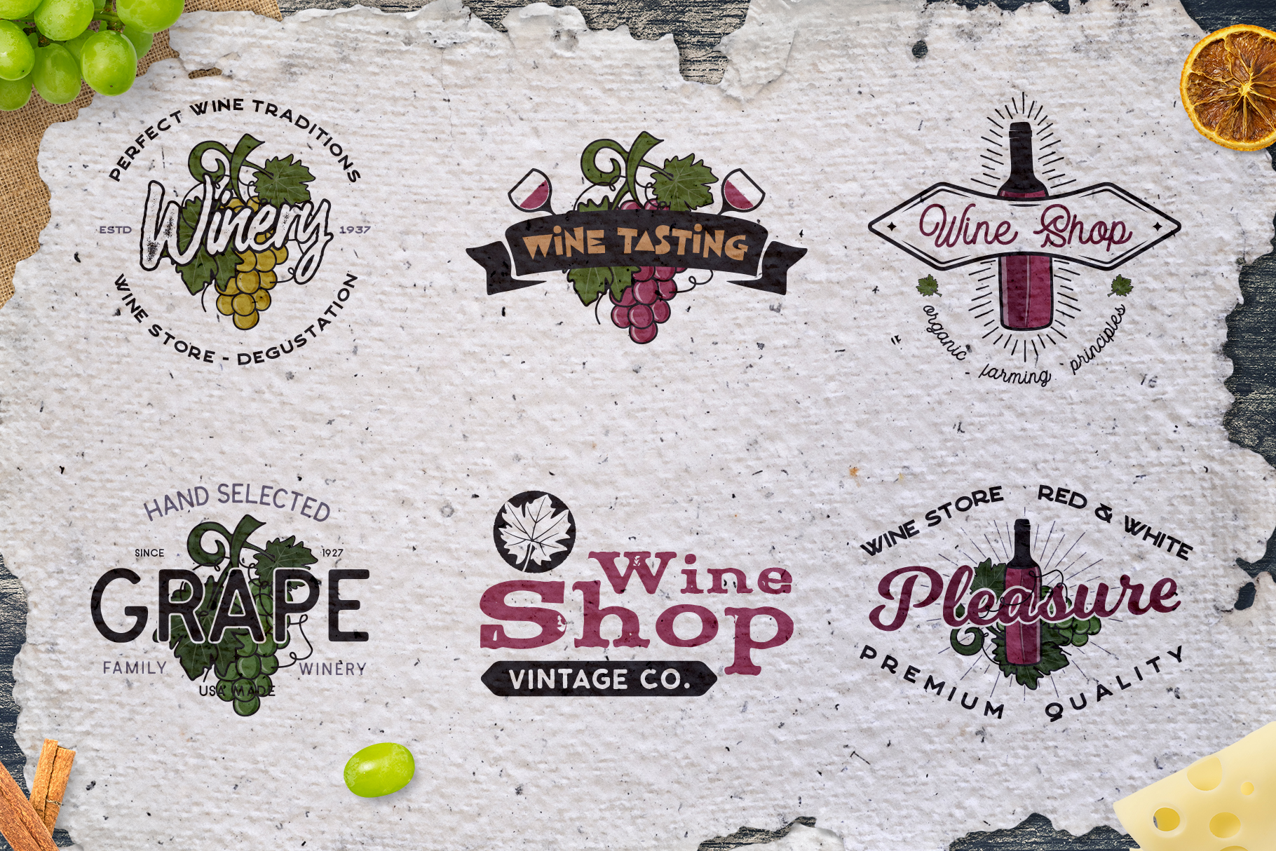 Winery Logo Designs & Wine Elements example image 2