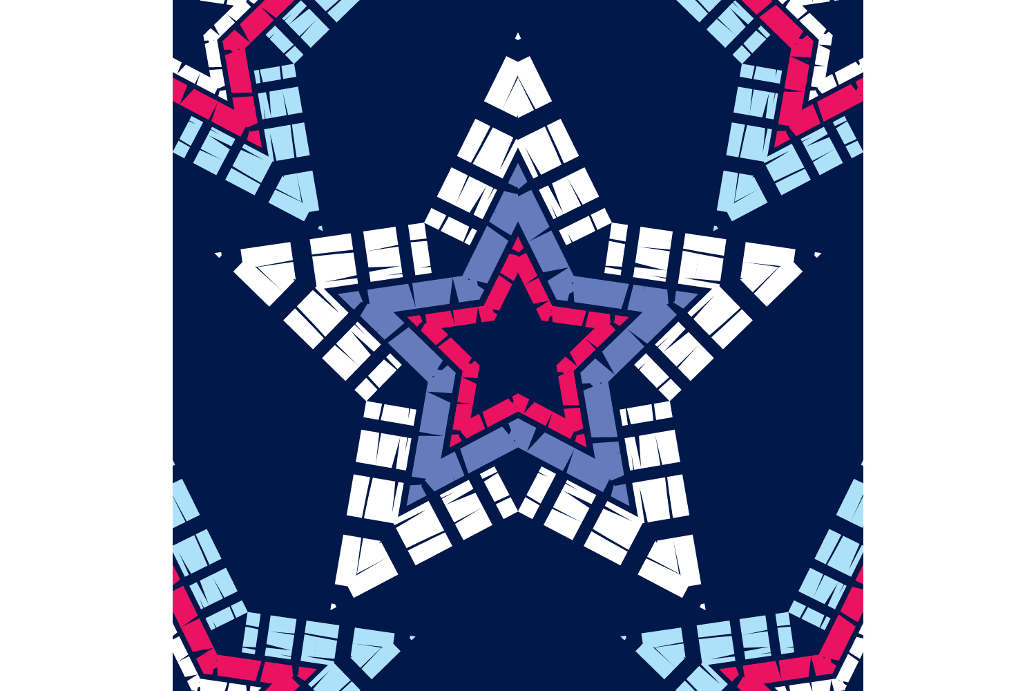 Ornament with Stars. Set of 10 seamless patterns. example image 6