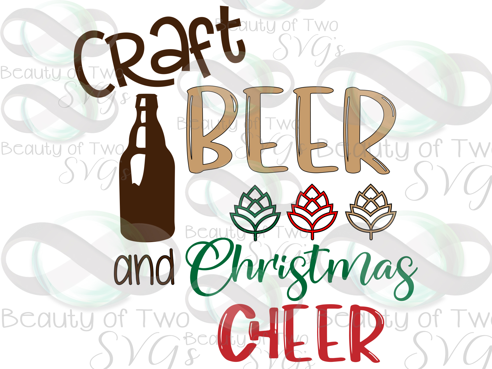 Christmas svg, Craft beer and Christmas cheer svg, beer svg example image 3