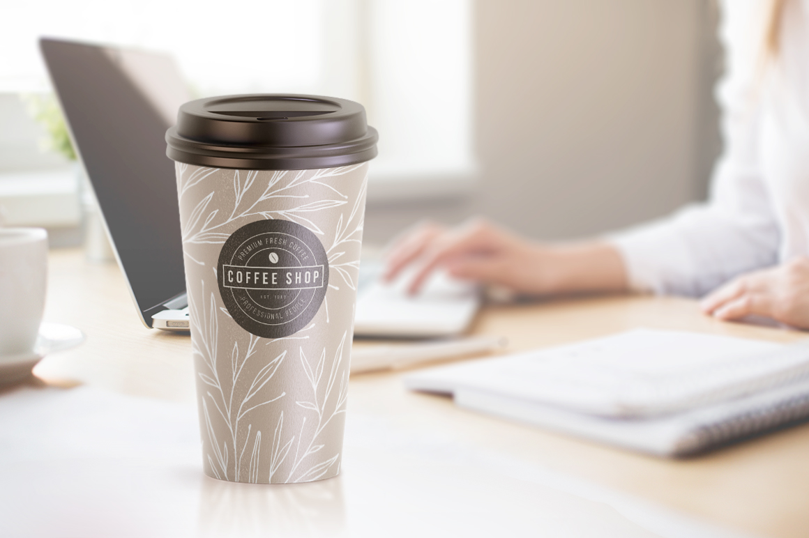 Large Coffee Cup Animated Mockup example image 10