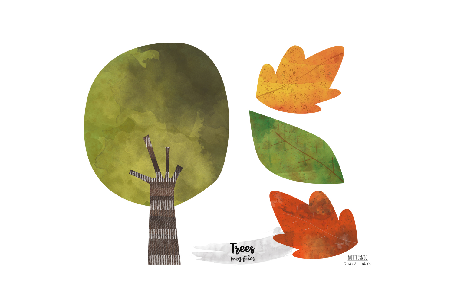 Watercolor Mountain Tree clipart. Mountain and tree clipart example image 9