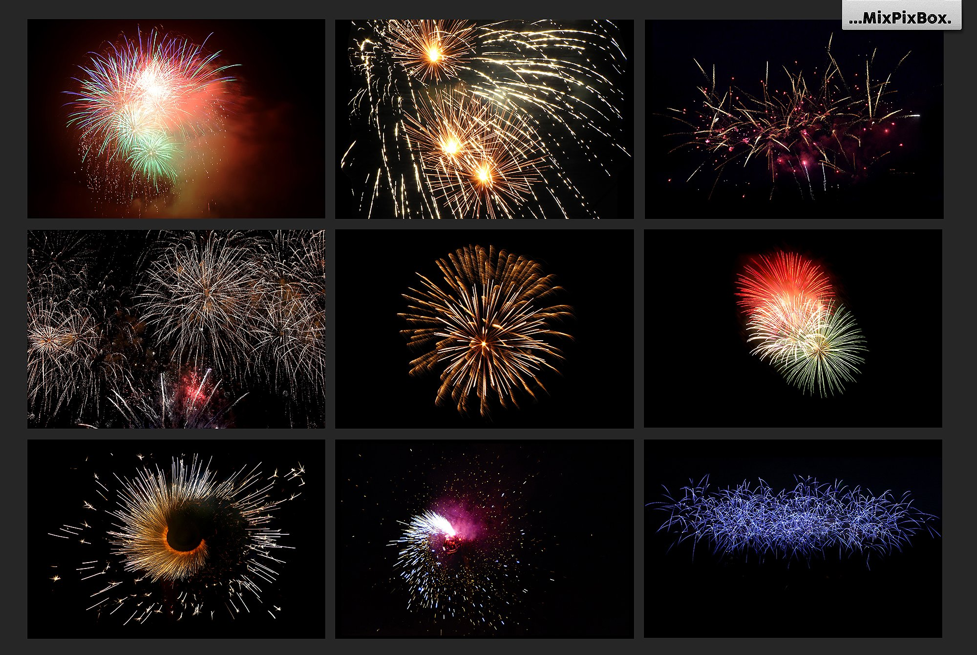100 Fireworks Overlays example image 7
