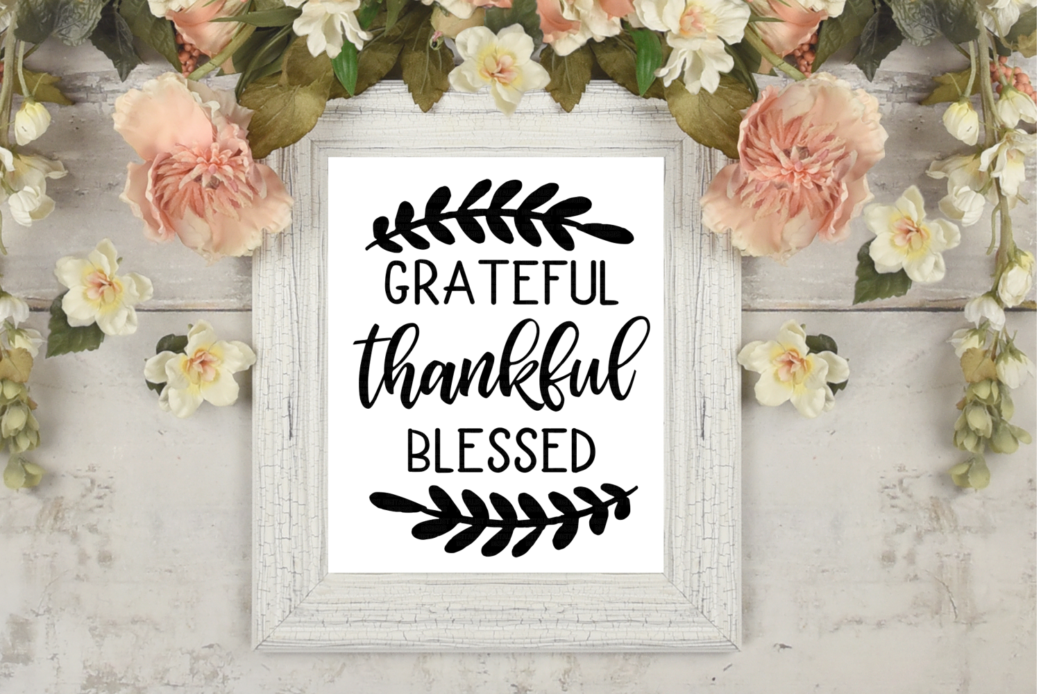 grateful thankful blessed SVG | Thanksgiving SVG example image 3