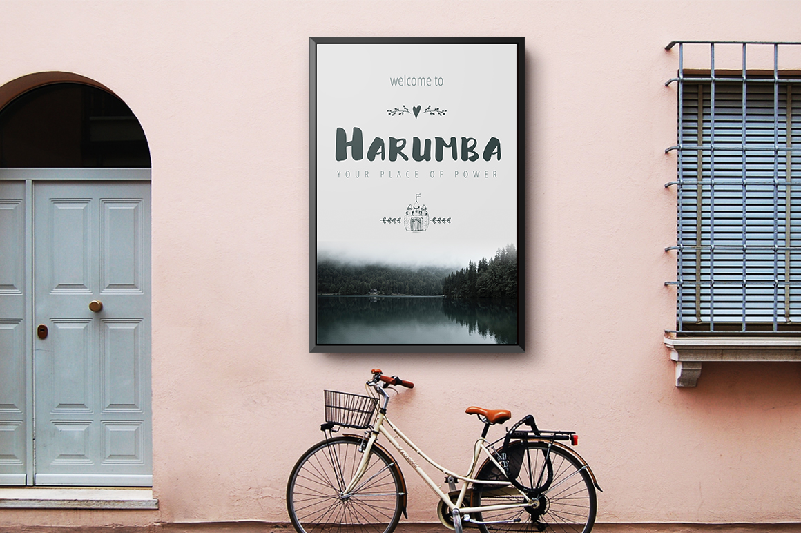 Harumba Brush font example image 3