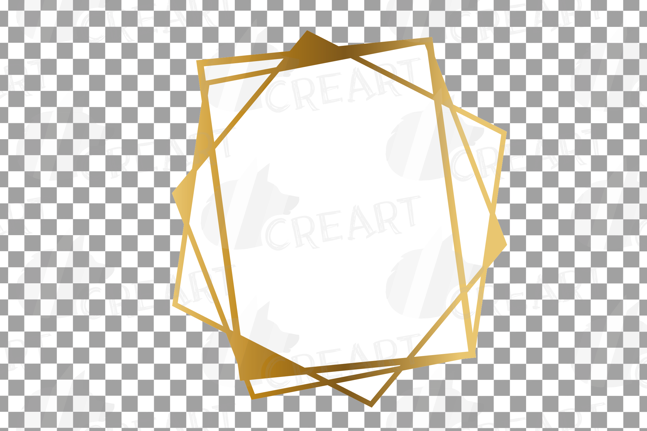 Chaotic geometric golden frames, lineal frames clip art example image 15