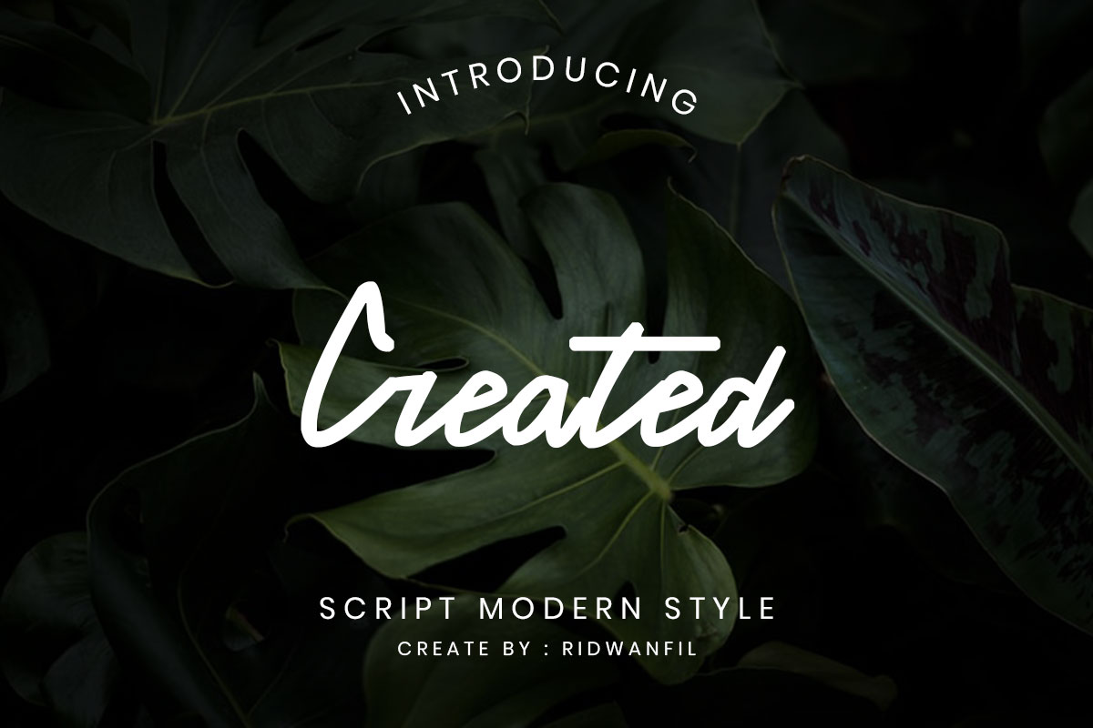 Created font - Script Modern Style example image 1