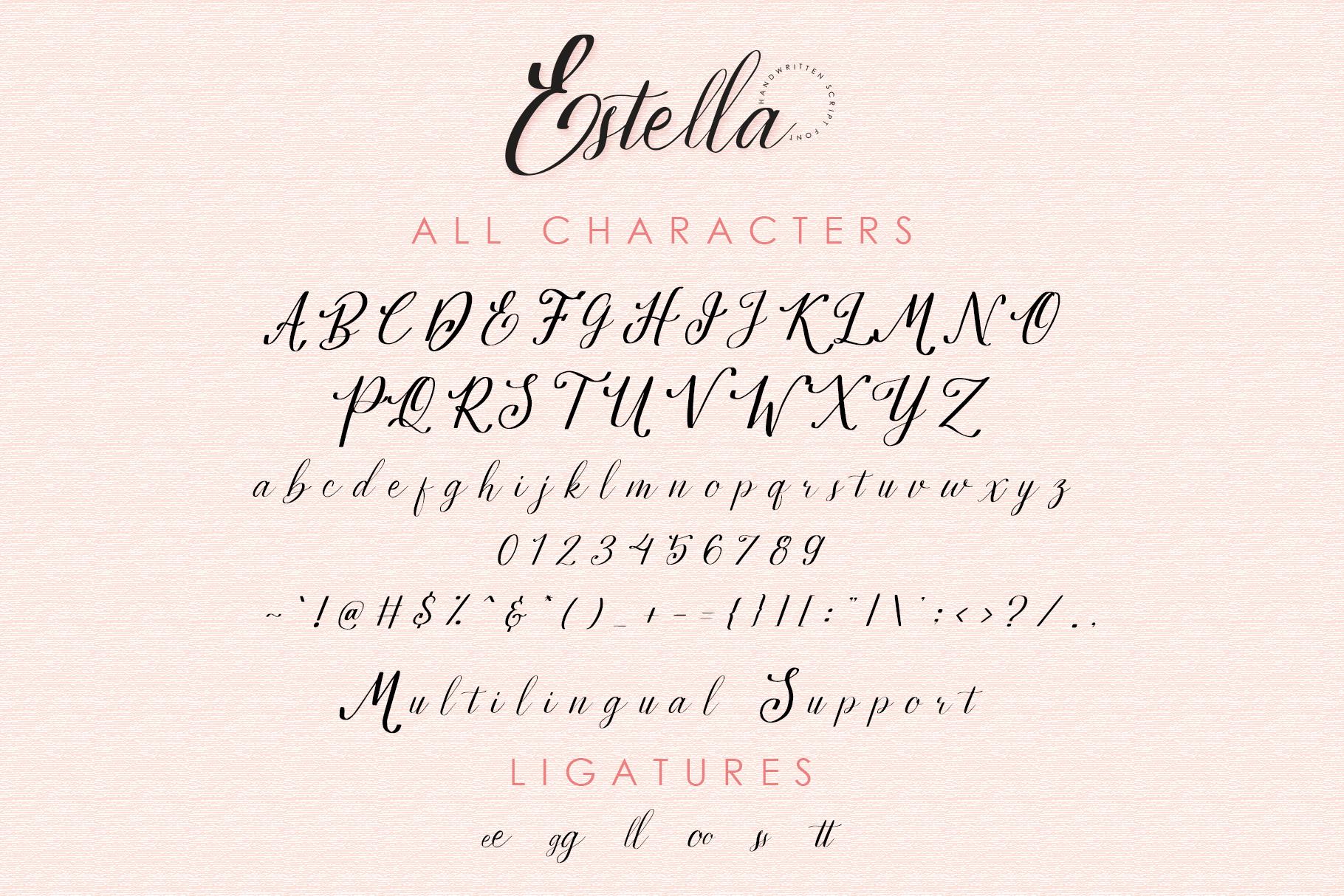 Estella Handwritten Font example image 8