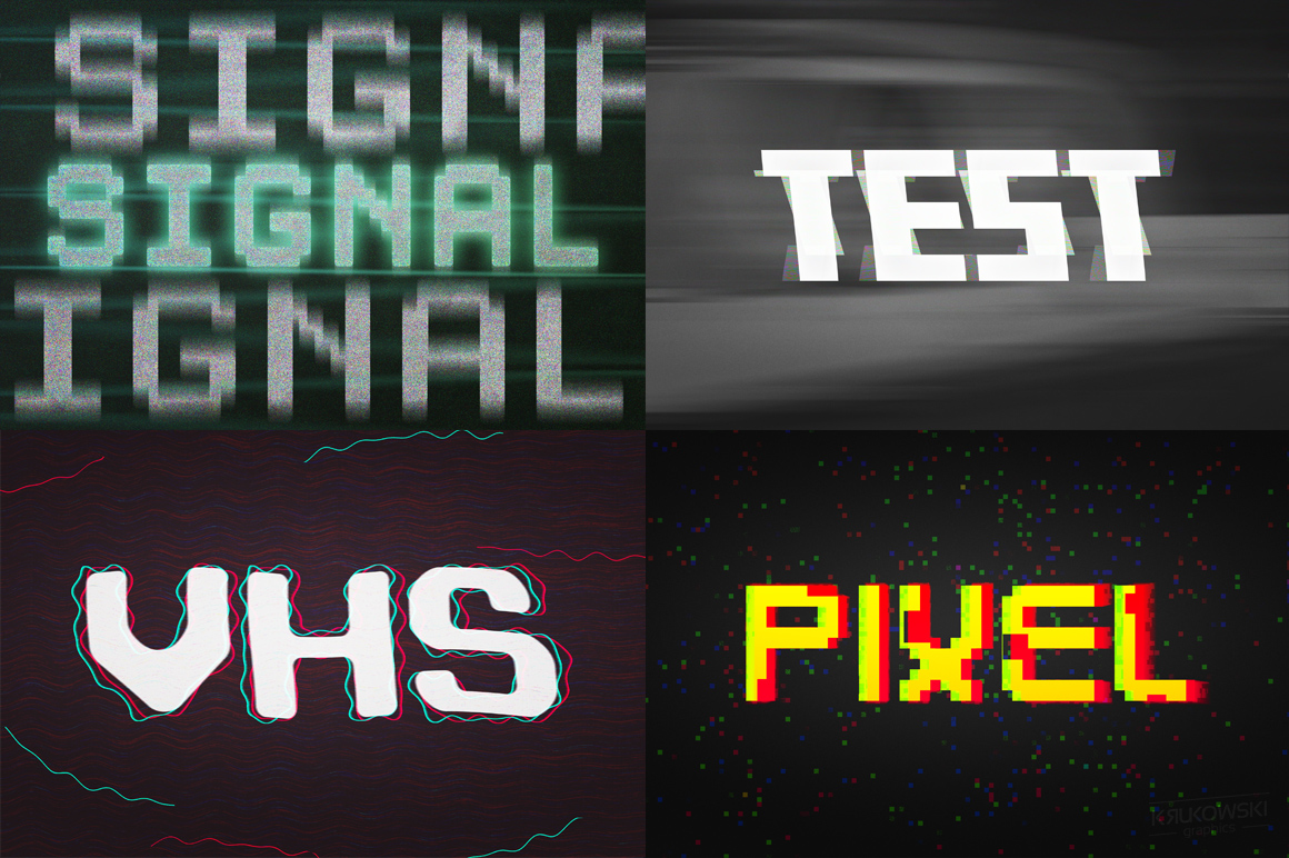 Digital Distortion Text Effects example image 3