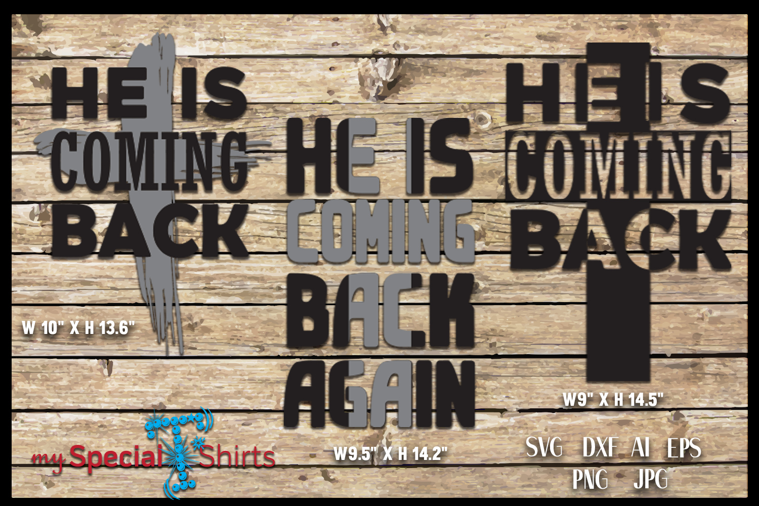 HE IS COMING BACK, Easter, Cross SVG, DFX, EPS example image 1