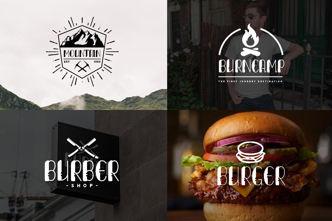 Lumberjack Family Font Set example image 3