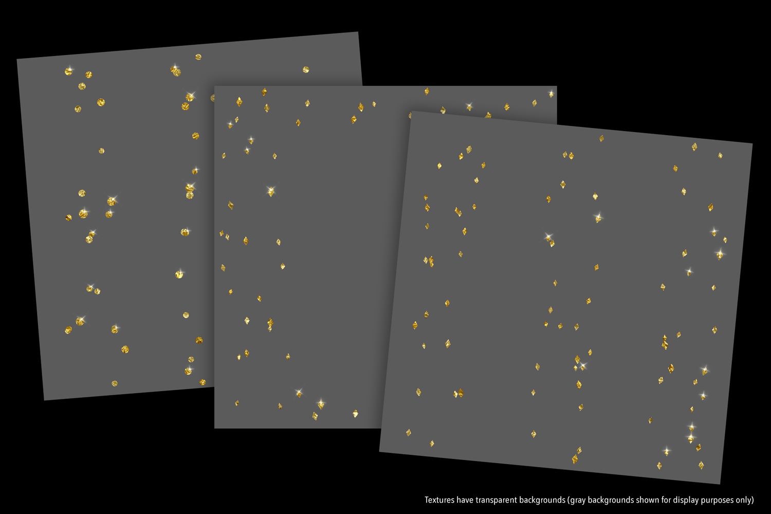 Sparkly Gold Confetti (Sparse) - transparent backgrounds example image 8