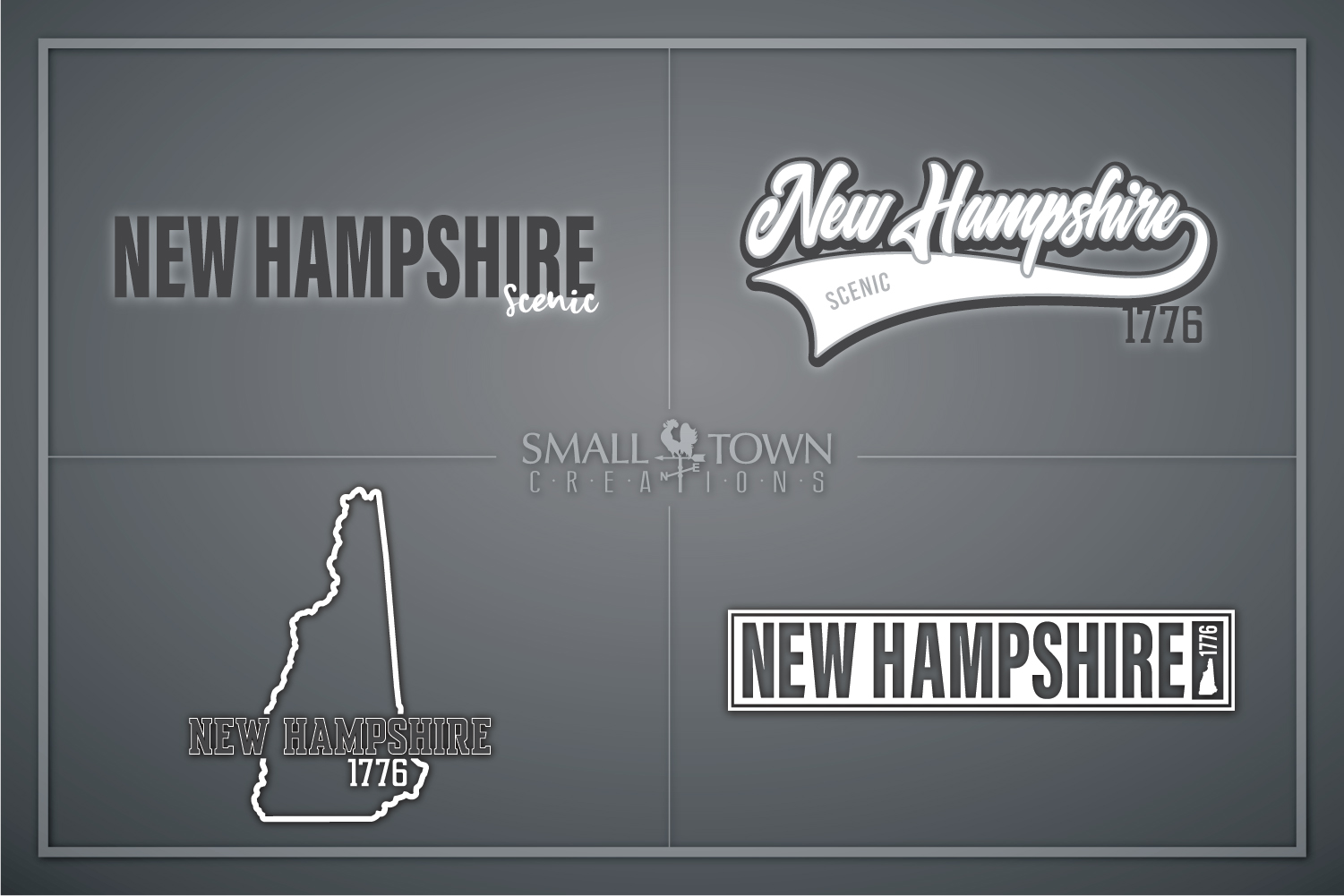 New Hampshire, Scenic - slogan, Logo, PRINT, CUT & DESIGN example image 1