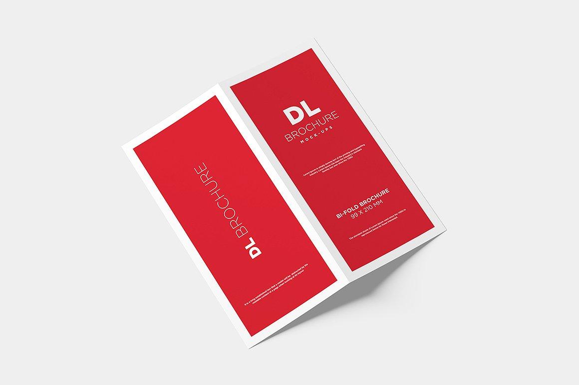 DL Bi-fold Brochure Mock-Up example image 3
