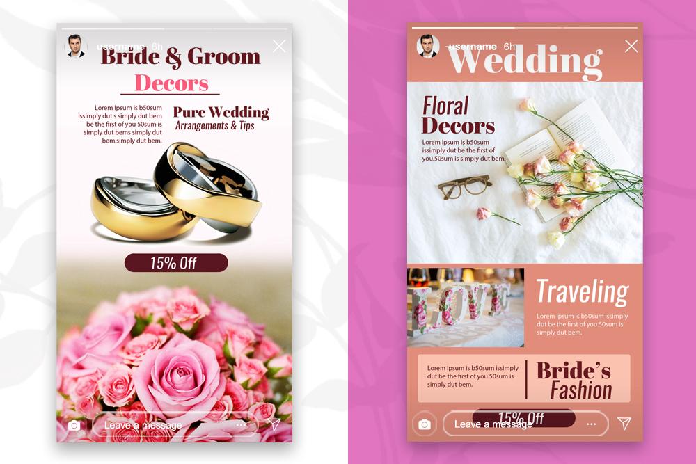 4 Instagram Stories - Wedding example image 2