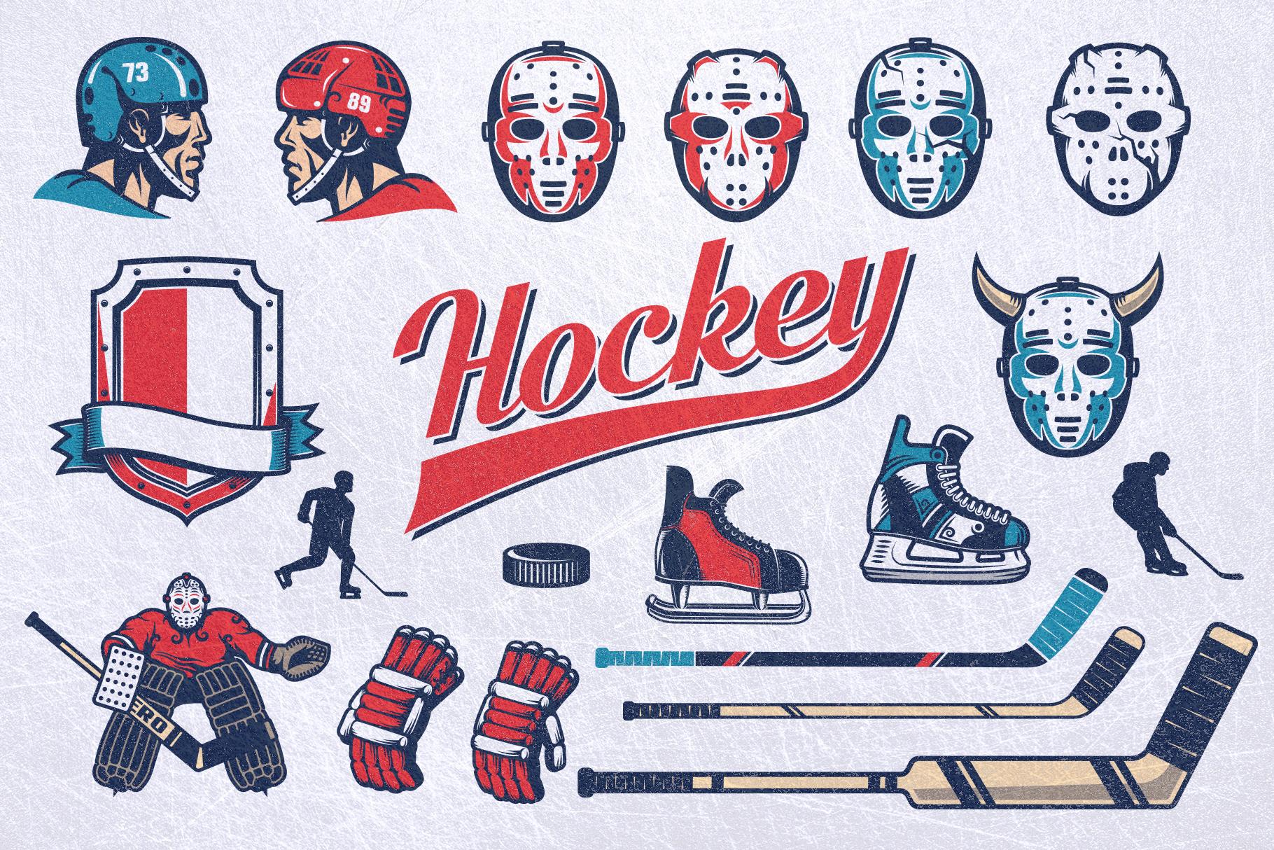 Hockey Emblem Retro Bundle example image 3