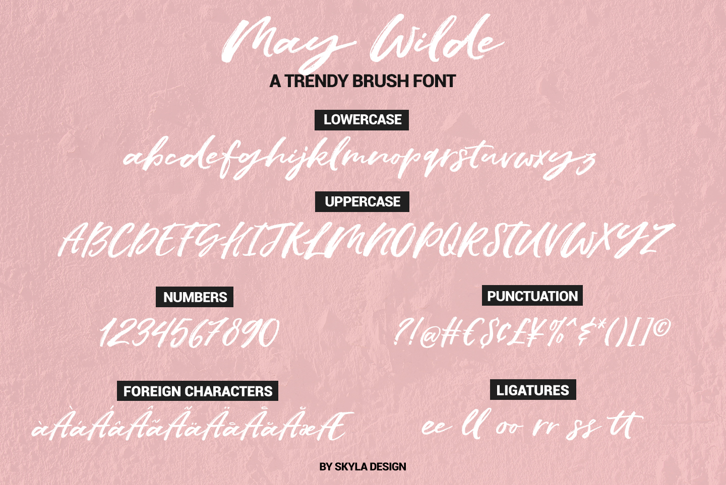Trendy brush font, May Wilde example image 9