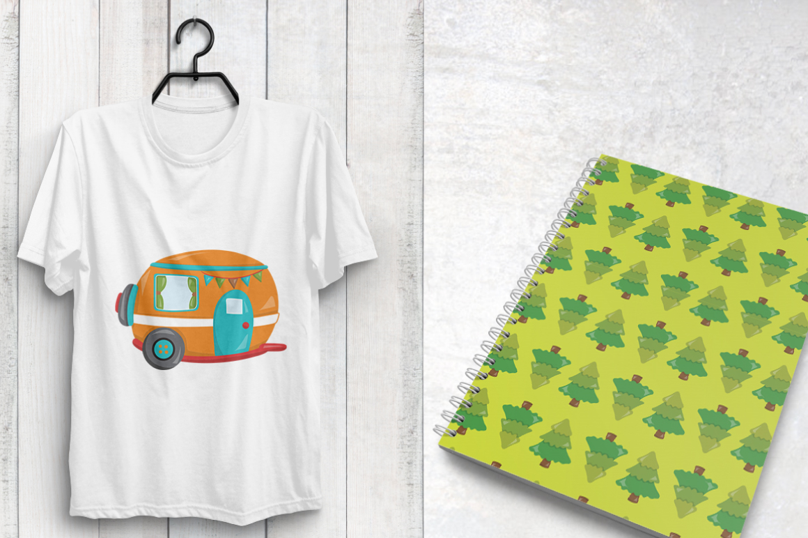 CAMPING-KIDS, digital papers example image 2