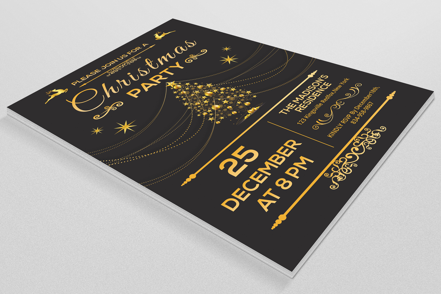 Christmas Party Invitation Flyer example image 2