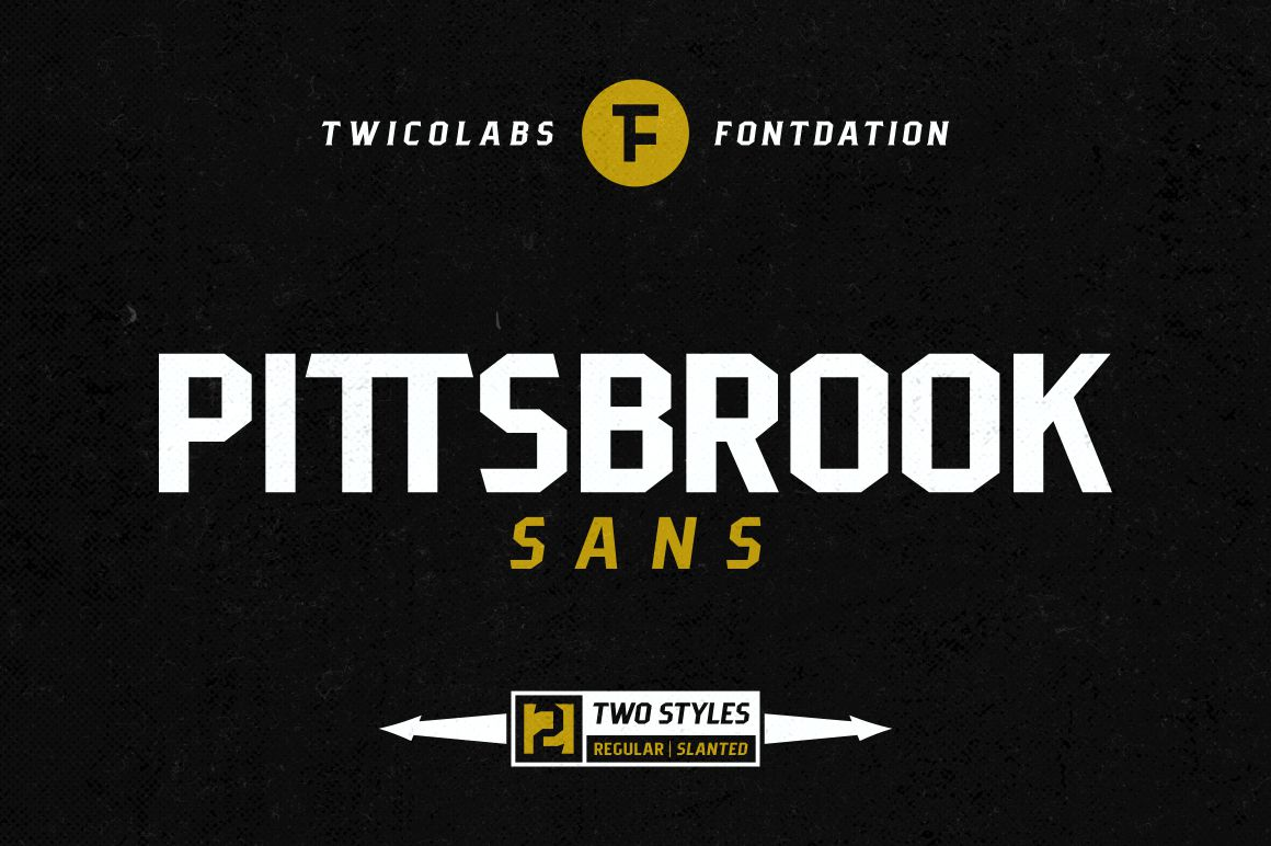 Pittsbrook Sans | 4 Fonts example image 1