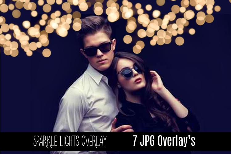 Digital Sparkle Bokeh Lights Effect Overlay JPG example image 4