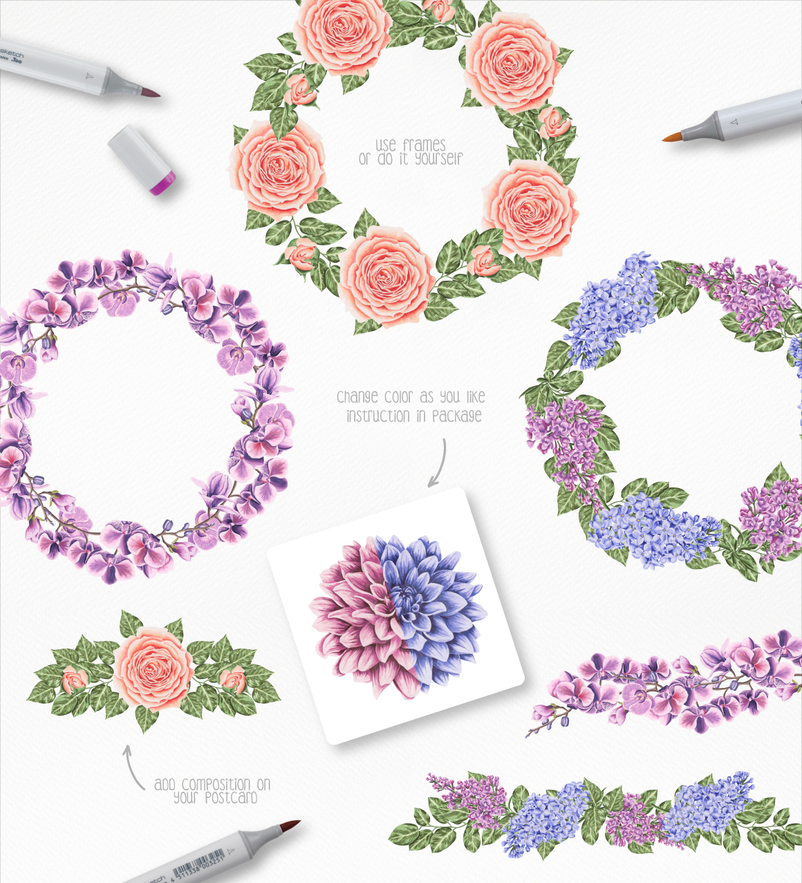 Flower Power Marker Collection example image 3