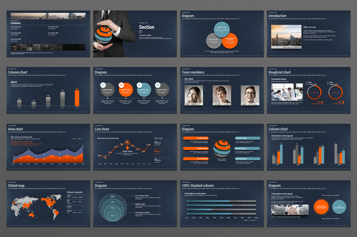 Global Business PowerPoint Template  example image 4