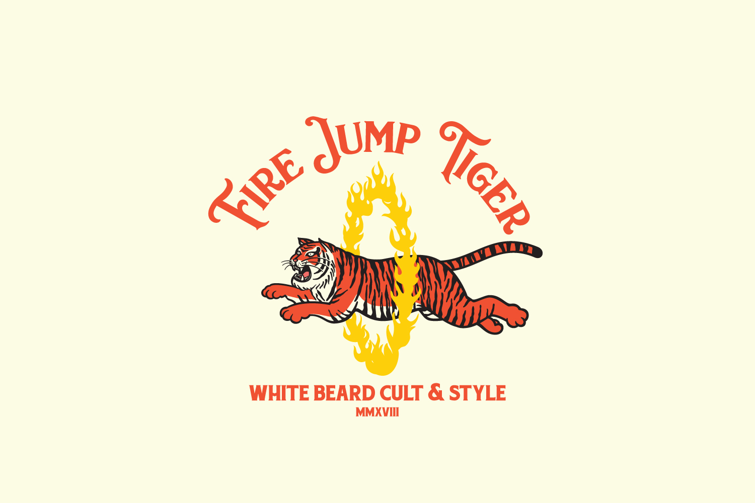 Fire Jump Tiger Logo Template example image 1