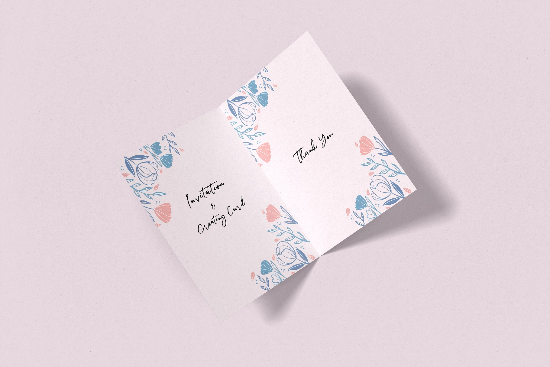 Invitation & Greeting Card Mockup example image 4