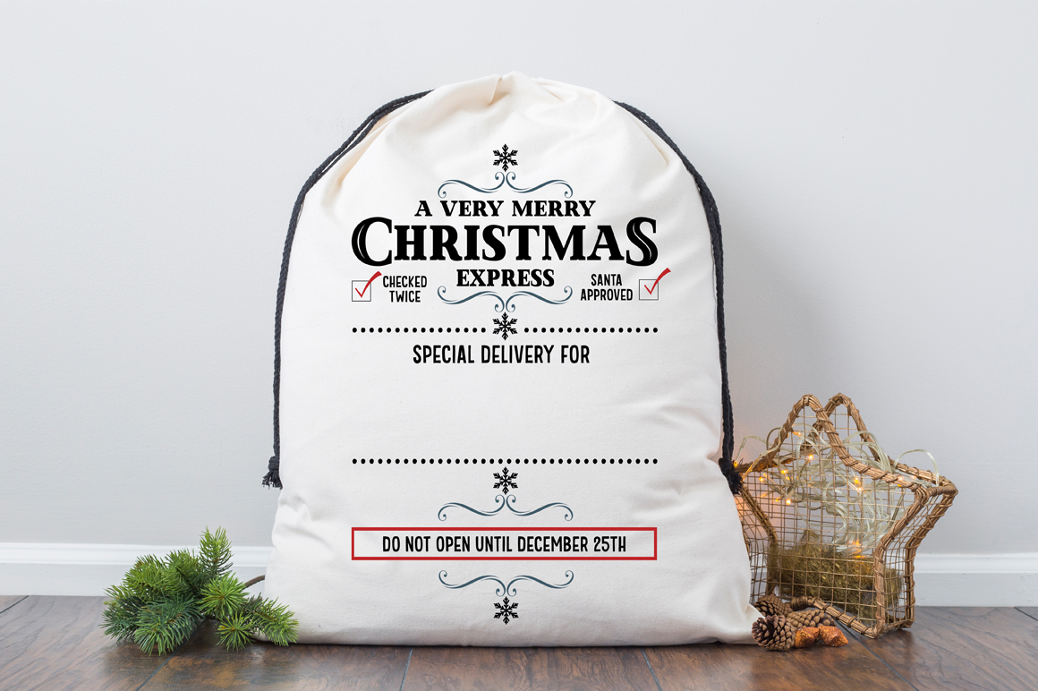Christmas Sack SVG - A Very Merry Christmas Express example image 2