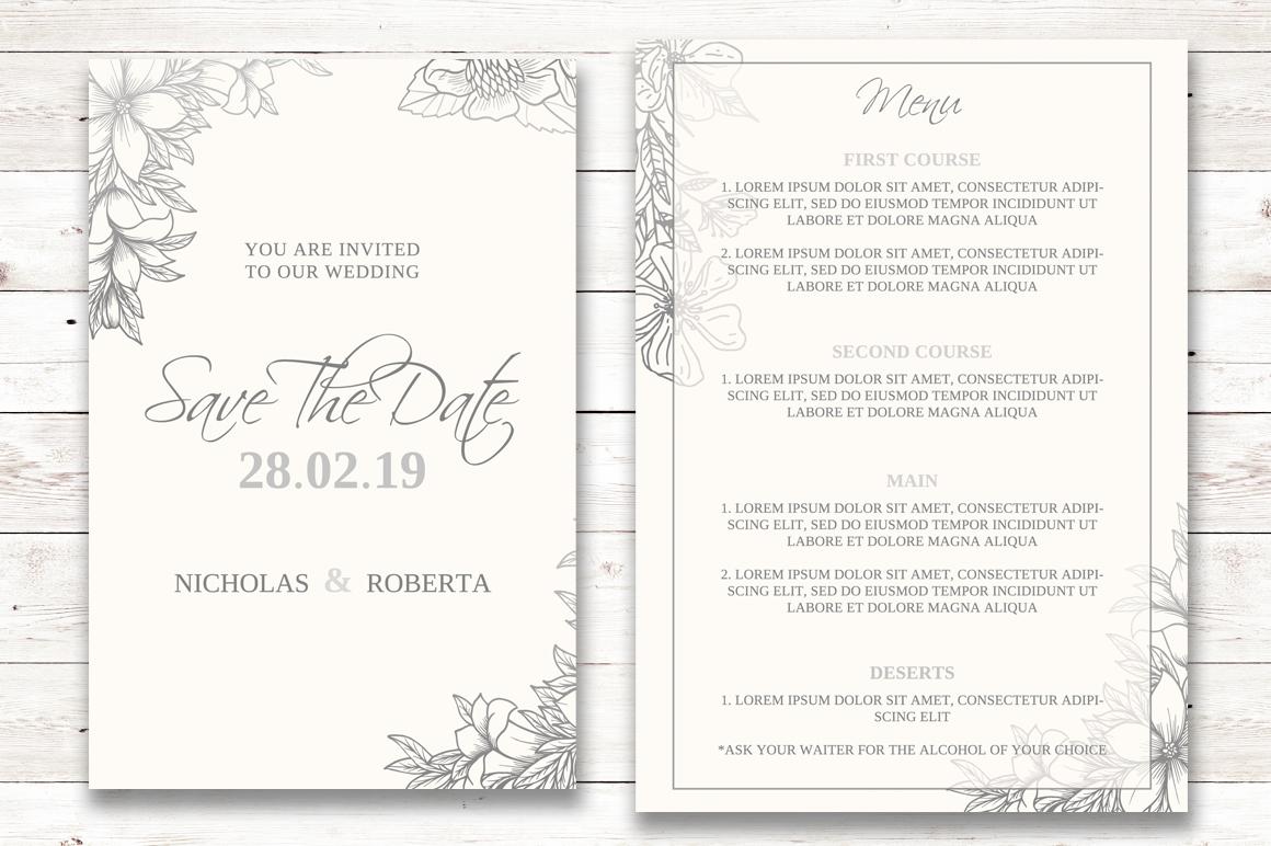 Soft Wedding Invitation Set example image 3