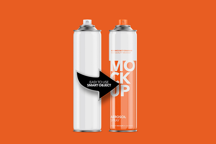Aerosol Spray Glossy - Front Mockup Tall example image 3