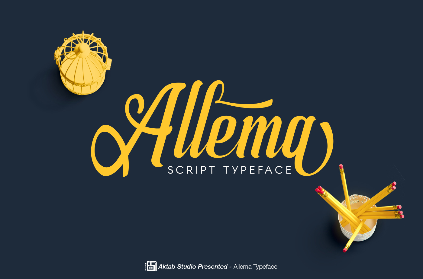 Allema Script Font example image 1
