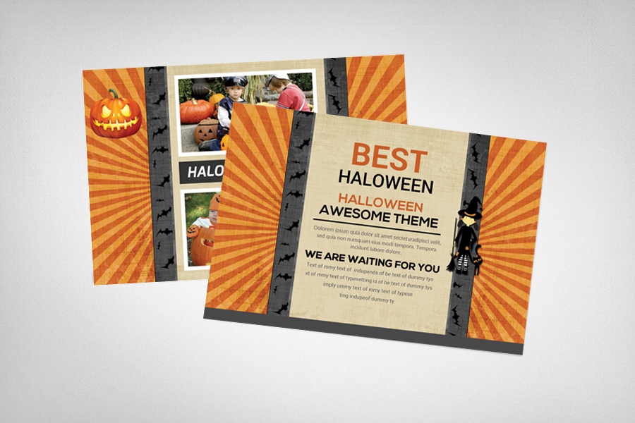 Halloween Party Postcard Template example image 2