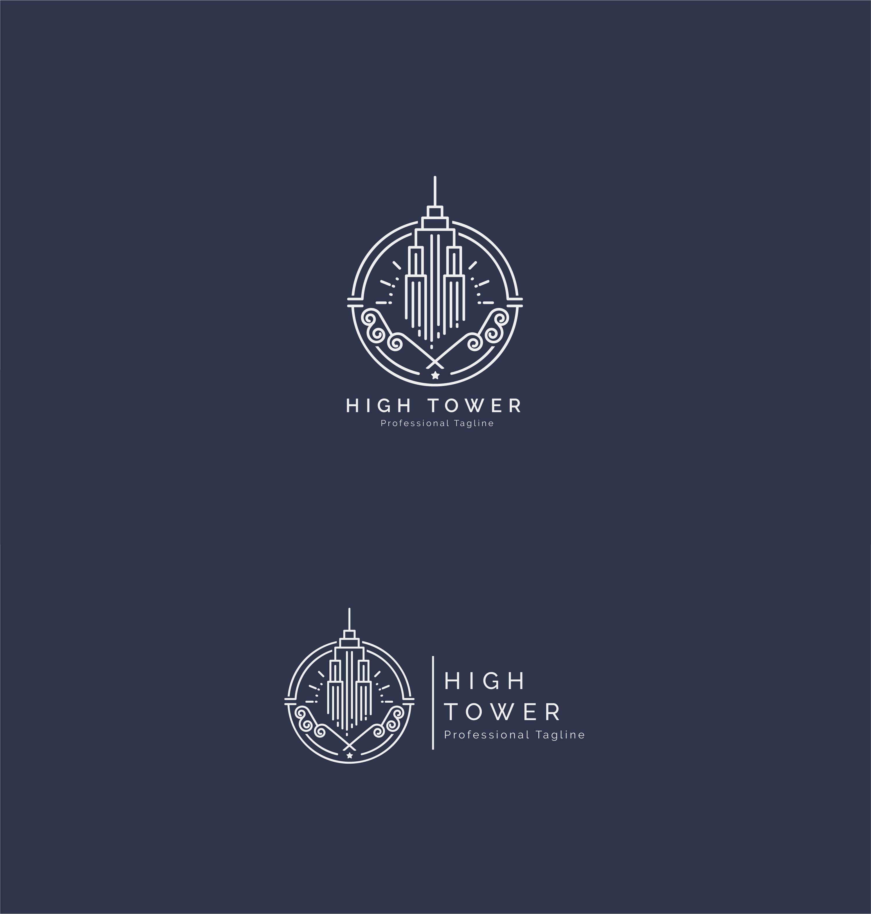 High Tower Logo - Construction Building Logo example image 2